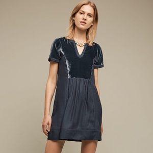 Anthropologie Maeve Velvet Tunic Dress XS